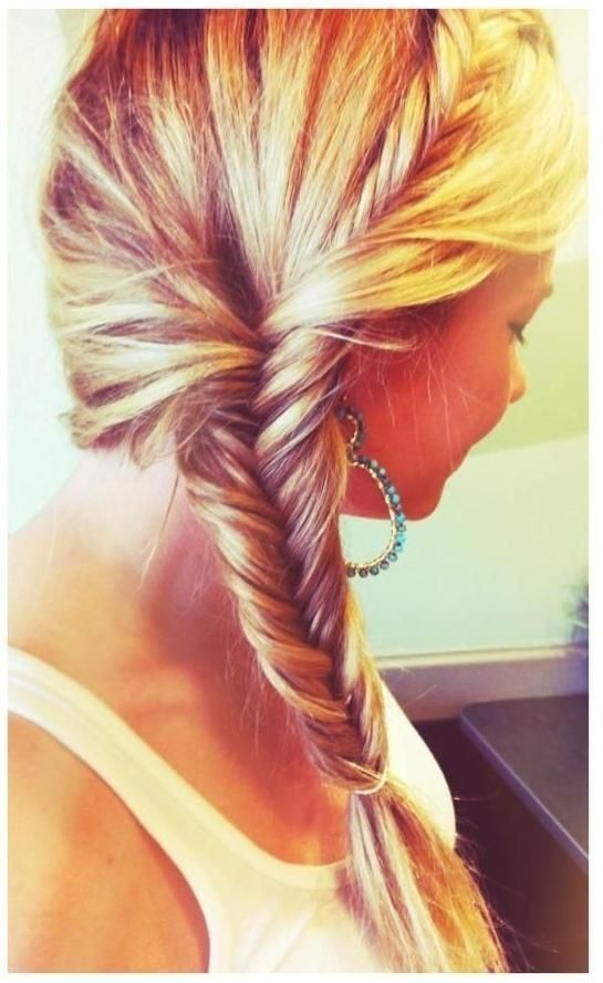French-Fishtail-Braid-Hairstyle Daily Medium Hairstyles for Women 2019