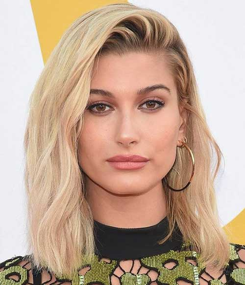 Hailey-Baldwin-Lob-Hair Hailey Baldwin Short Hair 2019
