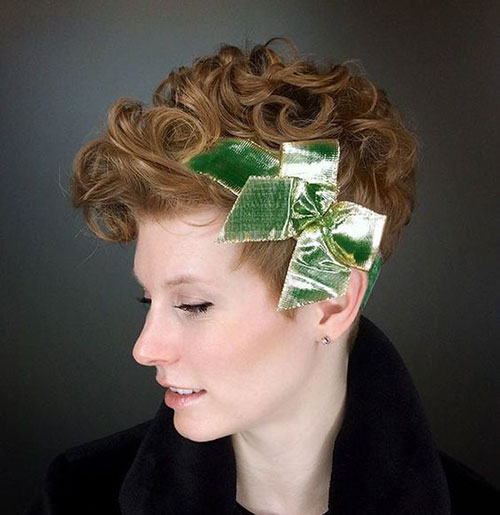 Headpiece-for-Curly-Hair Very Short Curly Hairstyles for Smart Ladies