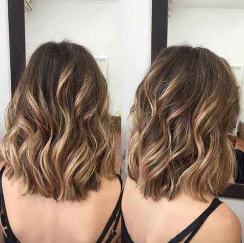 Highlighted-Color-for-Short-Hair Easy Hairstyles for Short Wavy Hair with Best Ways