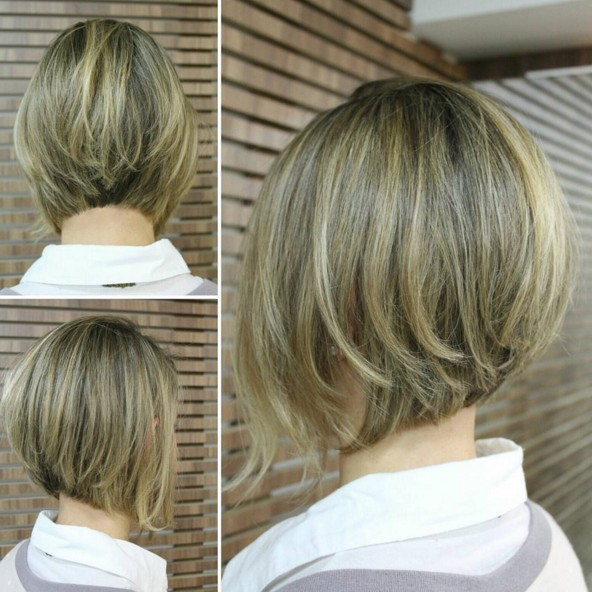 Inverted-Bob-Hairstyle Chic Short Hairstyles for Women 2019
