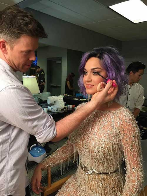 Katy-Perry's-Short-Haircut-with-Different-Color Female Celebrity Short Haircuts 2015