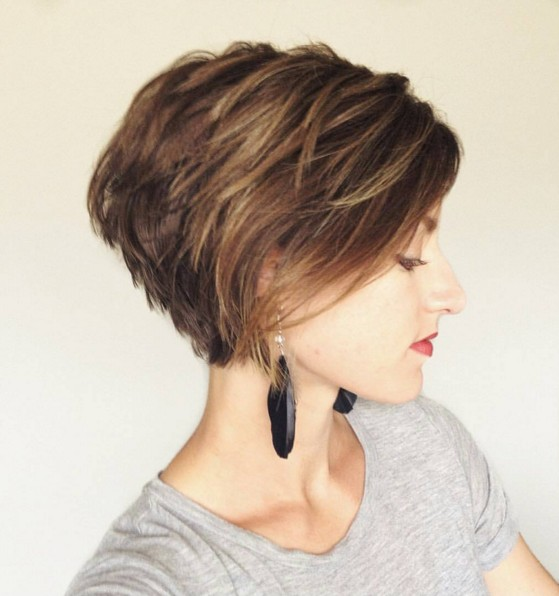 Layered-Long-Pixie-Hairstyle Chic Short Hairstyles for Women 2019