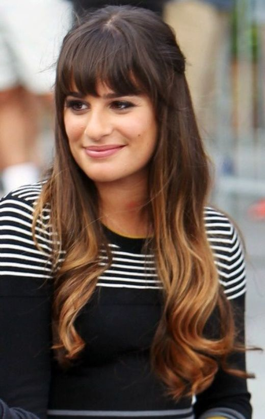 Long-Ombre-Hairstyle-with-Bangs Hottest Ombre Hair Color Ideas for 2019 – (Short, Medium, Long Hair)