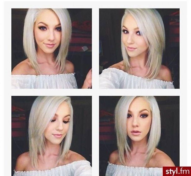 Medium-Layered-Hairstyle-–-Angled-Long-Bob Wonderful Medium Hairstyles for 2019
