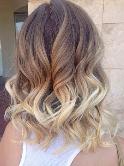 Medium-Wavy-Hairstyle-for-Ombre-Hair Wonderful Medium Hairstyles for 2019