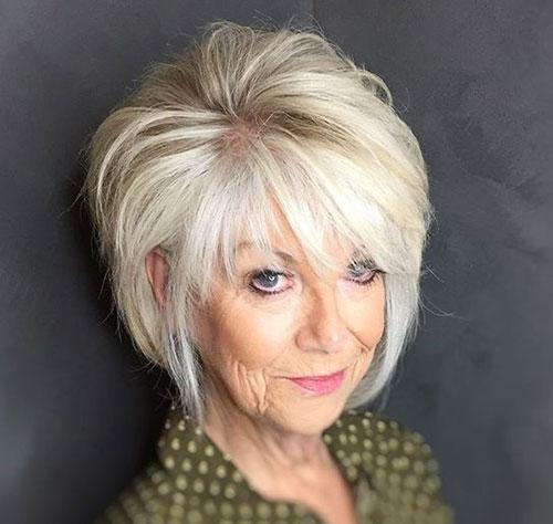 Modern-Layered-Bob Bob Haircuts for Older Women Chic Look