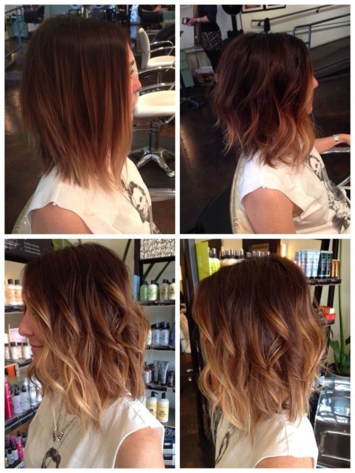 Ombre-Bob-Hairstyle Wonderful Medium Hairstyles for 2019