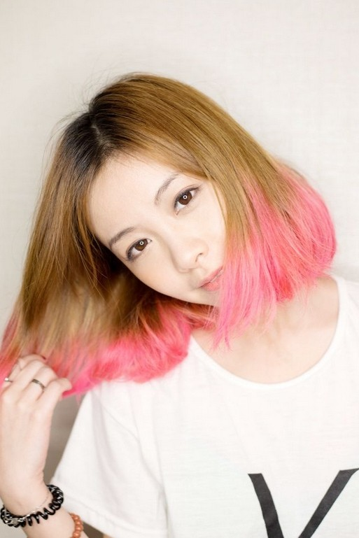 Pink-Colored-Bob-Haircut-for-Asain-Girls Daily Medium Hairstyles for Women 2019