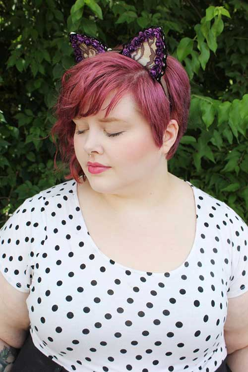 Red-Hair-Pixie-Cut-for-Round-Fat-Face Pretty Short Haircuts for Chubby Round Face