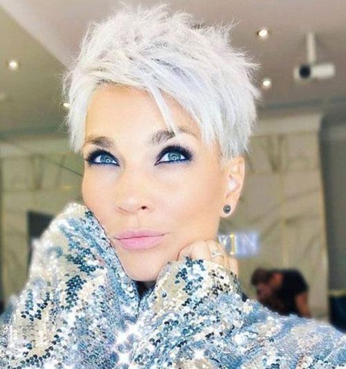 Sassy-Grey-Short-Hair-2019 Best Sassy Pixie Cuts 2019