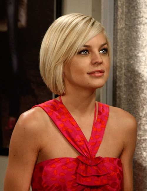 Short-Blond-Straight-Bob-Hairstyle Alluring Straight Hairstyles for 2019 (Short, Medium & Long Hair)
