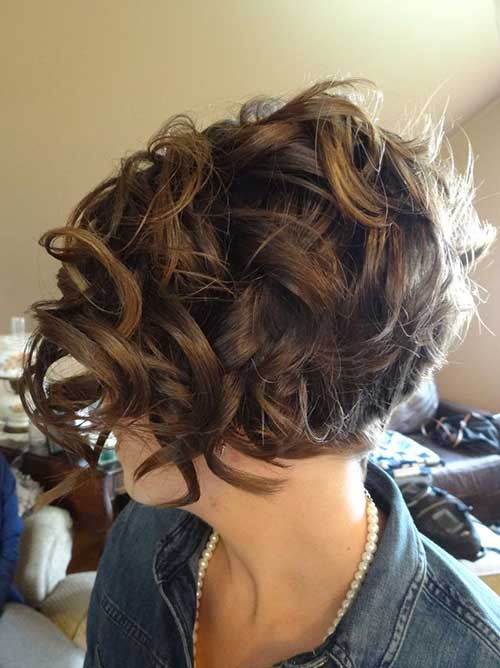 Short-Frizzy-Curly-Hair-Idea-Back-View Short Haircuts For Curly Frizzy Hair