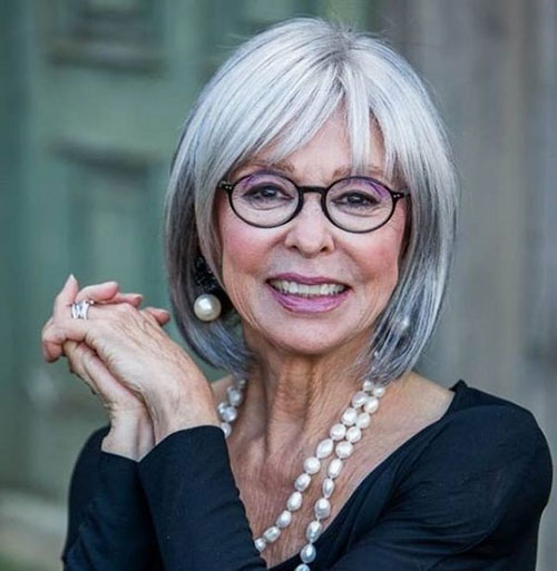 Short-Hairstyle-with-Eyeglasses Bob Haircuts for Older Women Chic Look