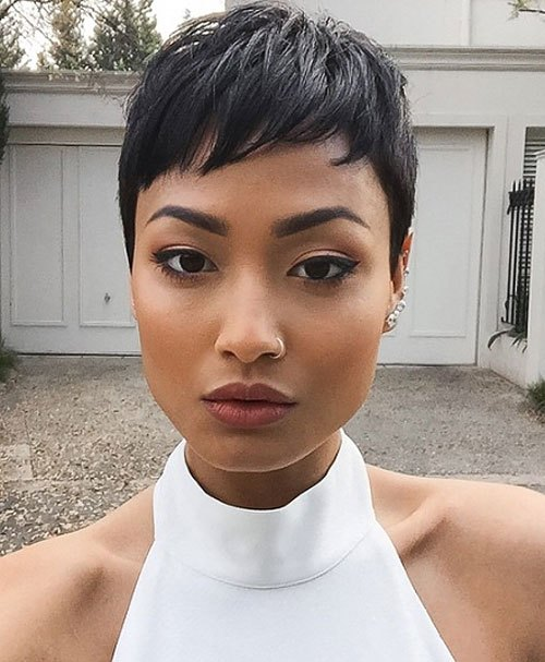 Short-and-Layered-African-American-Pixie-Cut Trendy African American Pixie Haircuts for Short Hair – Straight, Curls