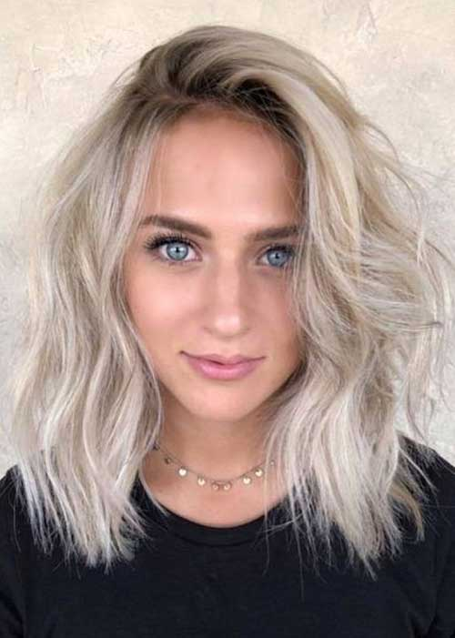 Shoulder-Length-Cut Chic Ideas About Short Ash Blonde Hairstyles