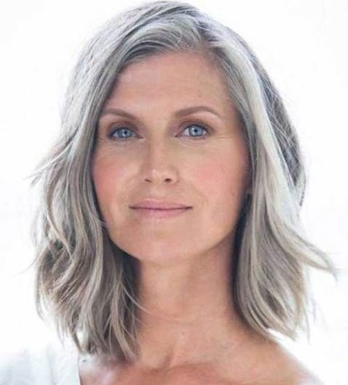 Shoulder-Length-Layered-Bob Bob Haircuts for Older Women Chic Look