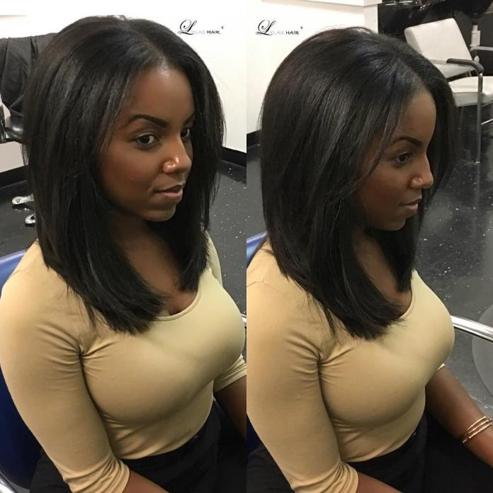 Shoulder-length-straight-bob-hairstyle-for-black-women Alluring Straight Hairstyles for 2019 (Short, Medium & Long Hair)
