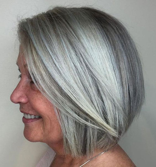 Silver-Short-Hair-for-Older-Women Bob Haircuts for Older Women Chic Look