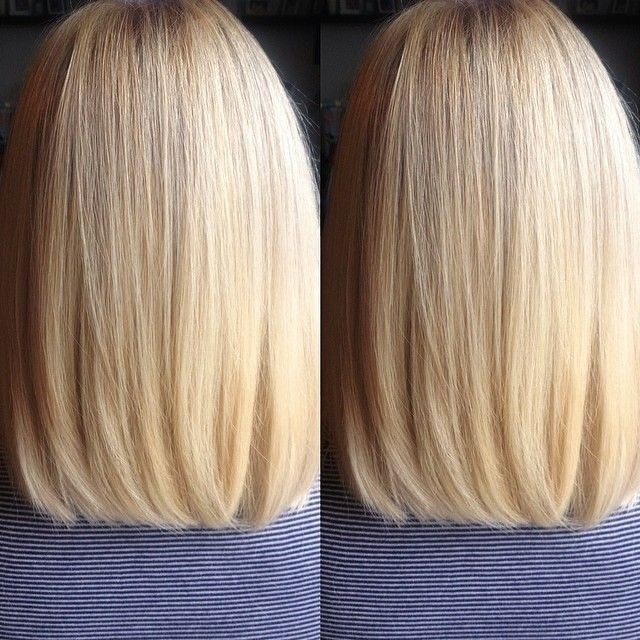 Sleek-Straight-Long-Bob-Haircut-for-Blond-Hair Daily Medium Hairstyles for Women 2019