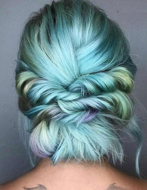 Twisted-Updo-Style Ideas of Cute Easy Hairstyles for Short Hair