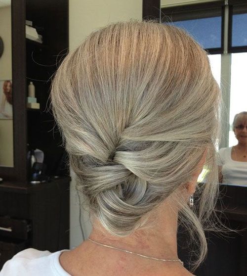 Updo-Hairstyle-for-Older-Women Ideas of Cute Easy Hairstyles for Short Hair