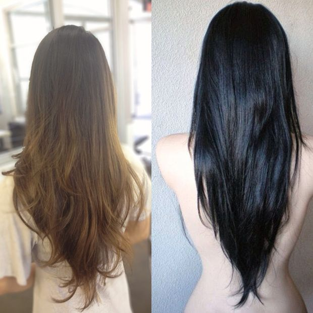 V-Shaped-Layered-Hairstyles Great Layered Hairstyles for Straight Hair 2019
