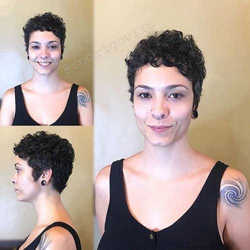 Very-Short-Curly-Pixie-Style Cute Short Curly Hairstyles for Sweet View