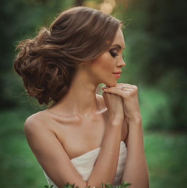 Wedding-Hairstyles-6 Romantic Wedding Hairstyles for 2019