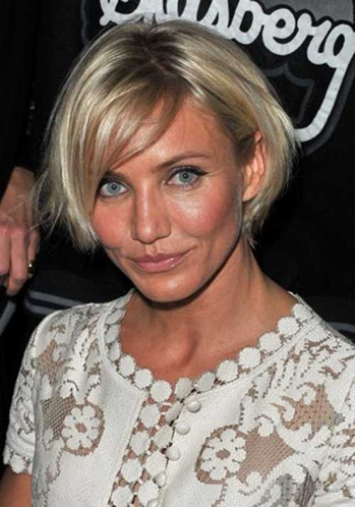 short-blonde-bob-hairstyle-of-Cameron-Diaz Trendy Short Hairstyles You Should See