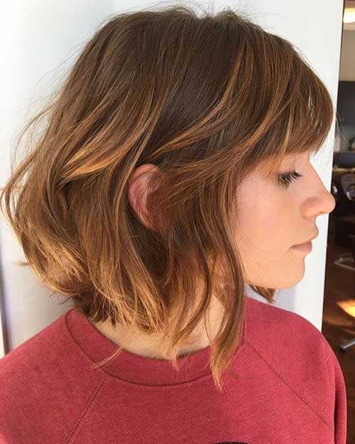 short-brown-hair-2 Best Short Hairstyle Ideas 2019
