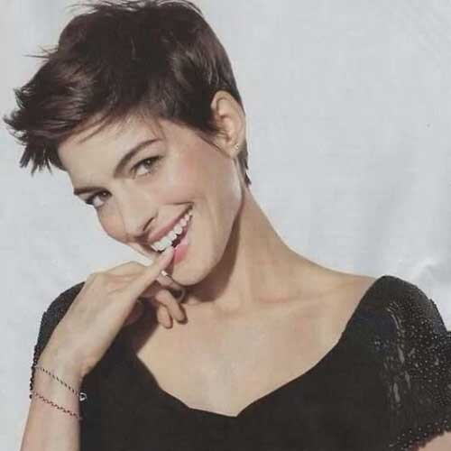 Anne-Hathaway-with-Nice-Pixie-Hair Best Cute Girl Short Haircuts To Help You Out