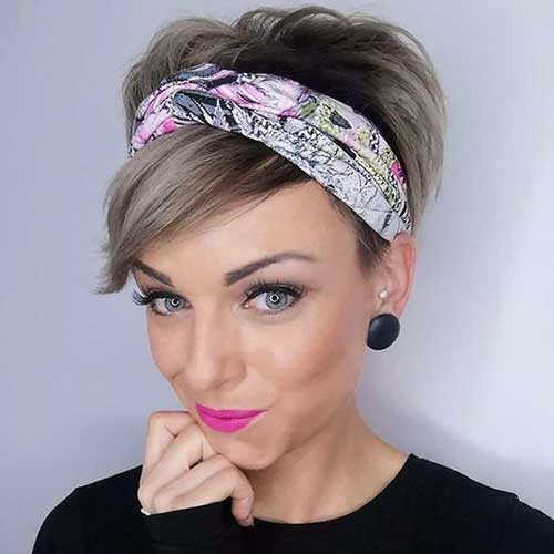 Bandana-with-A-Pixie Pixie Hairstyles for the Best View