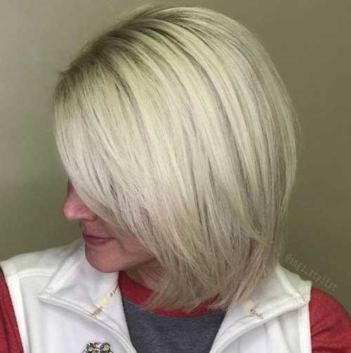 Blonde-Bob Short Hairstyles for Women Over 40 to Explore New Look