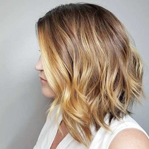 Blonde-Hair Popular Short Layered Hairstyle Ideas