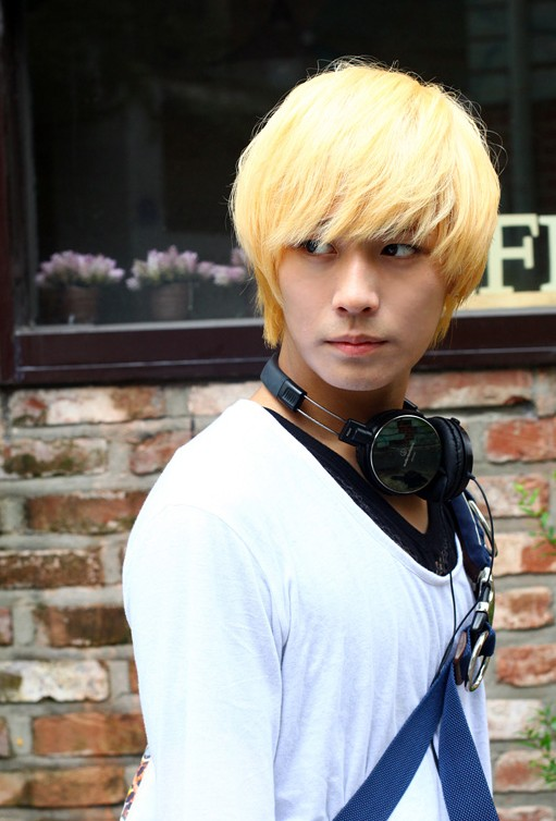 Blonde-Korean-Hair-style-with-full-bangs-for-Guys Cool Korean and Japanese Hairstyles for Asian Guys