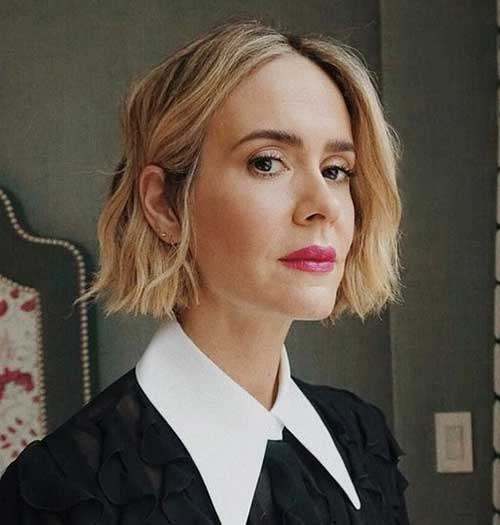 Blunt-Cut Short Thin Hairstyles to Easily be Feminine