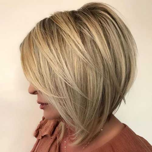 Bob-Hair-with-Layers Short Hairstyles for Women Over 40 to Explore New Look