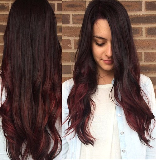 Cherry-Red-Ombre New Hairstyles and Hair Color Ideas for Fall