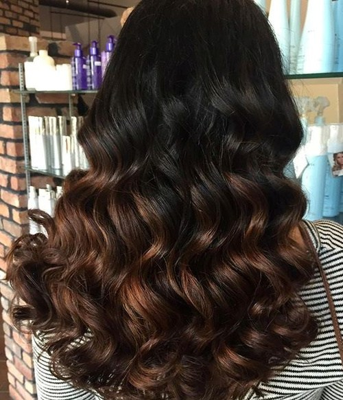 Copper-Ombre-Curls New Hairstyles and Hair Color Ideas for Fall