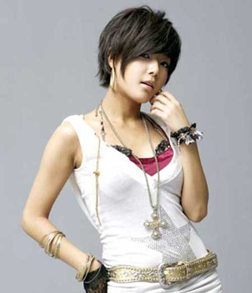Cute-Asian-Girl-with-Side-Swept-Layered-Hair Best Cute Girl Short Haircuts To Help You Out