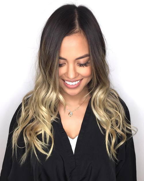 Dark-Brown-and-Silver-Curls-with-Side-Part Gorgeous Ways to Rock Blonde and Sliver Hair
