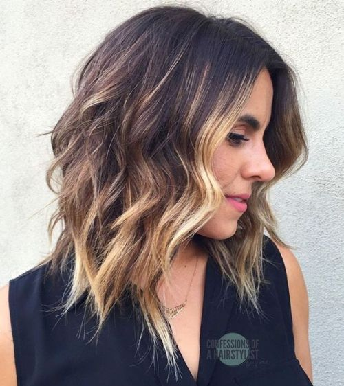 Flattering-balayage-hairstyle-for-medium-hair Flattering Medium Hairstyles for 2019