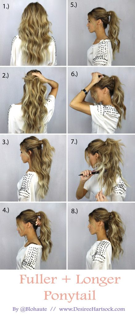 Fuller-Ponytail Hair Tutorials to Style Your Hair