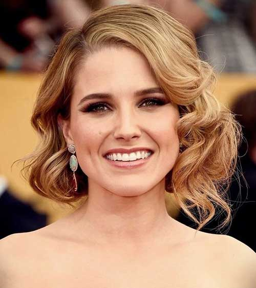 Hollywood-Curls-Short-Hairstyle Short Formal Hairstyles with Hottest Way