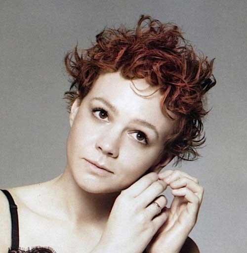 Incredibly-Thick-Ginger-Messy-Hair Messy Hairstyles for Short Hair