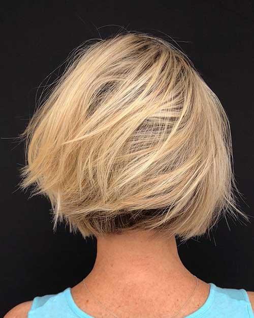Layered-Bob-Hair Popular Short Layered Hairstyle Ideas