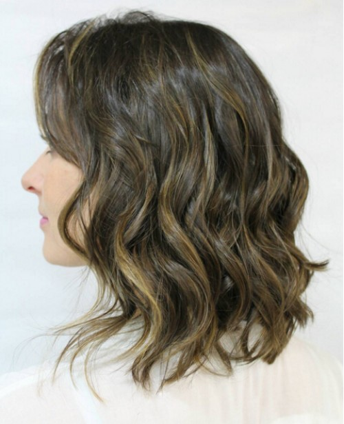 Medium-Wavy-Hairstyle-for-Brown-Hair Flattering Medium Hairstyles for 2019