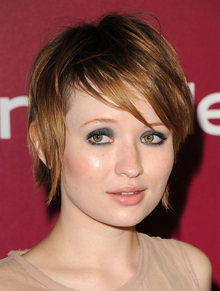 Messy-Fine-Strands-of-Copper-colored-Bob-Cut New Cute Short Haircuts