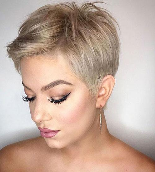 Modern-Short-Blonde-Pixie-Hair-Style Modern Hairstyles for Short Hair